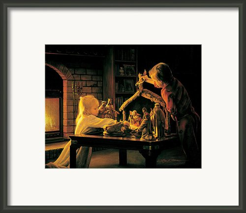 Angels Of Christmas Framed Print By Greg Olsen