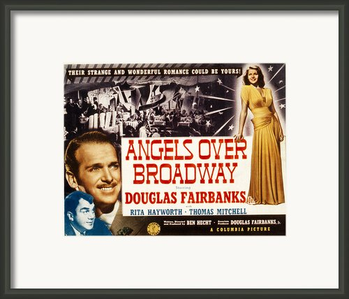 Angels Over Broadway, Thomas Mitchell Framed Print By Everett