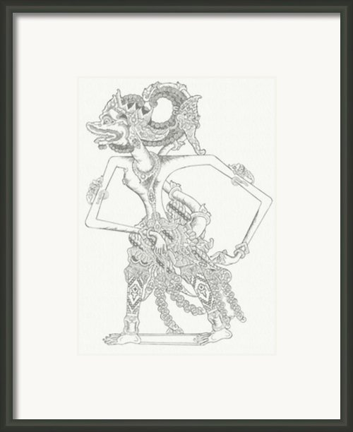 Anggada Framed Print By Dedi Dolrased