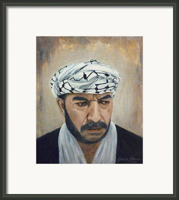 Angry Palestinian Framed Print By Gizelle Perez