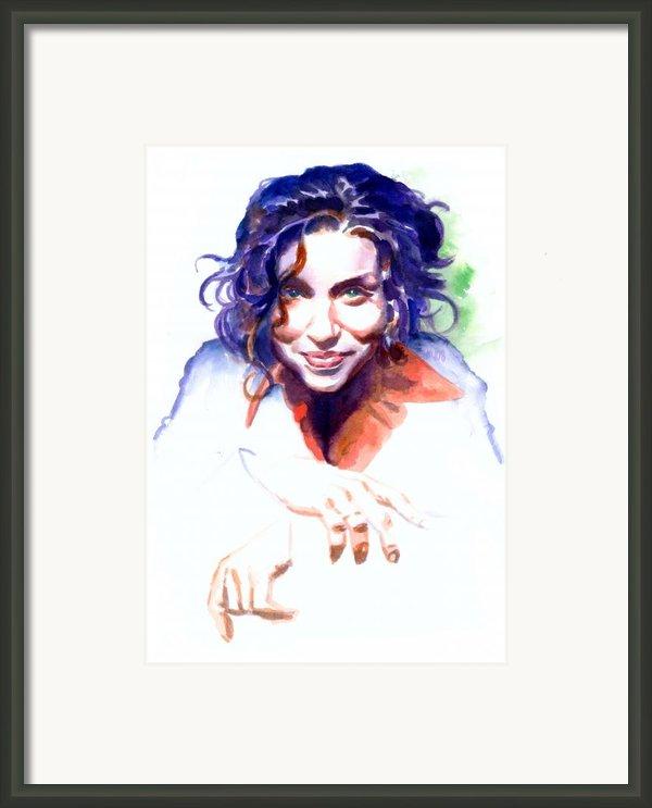 Ani Difranco Framed Print By Ken Meyer Jr