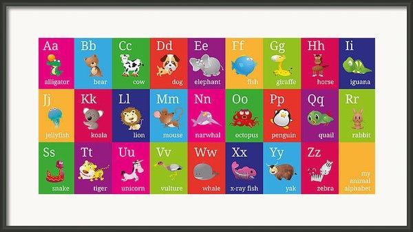 Animal Alphabet Framed Print By Michael Tompsett