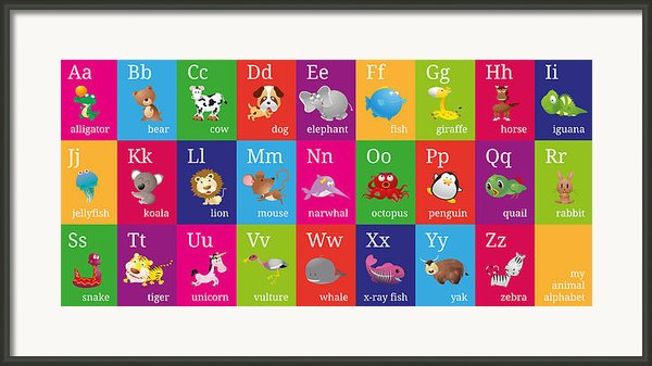 Animal Alphabet Framed Print By Michael Tompsett