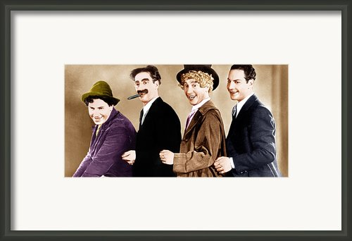 Animal Crackers, From Left Chico Marx Framed Print By Everett