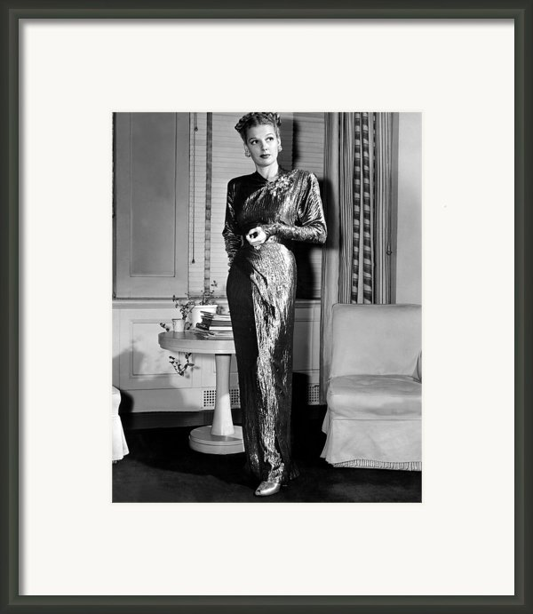 Ann Sheridan, Portrait, Circa 1946 Framed Print By Everett