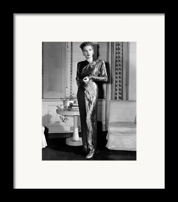 Ann Sheridan, Portrait, Circa 1946 Framed Print By Everett