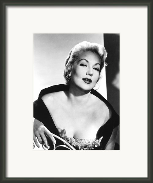Ann Sothern, Nbc, 1957 Framed Print By Everett