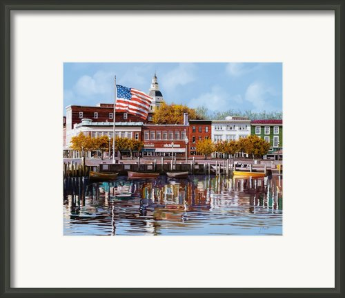 Annapolis Framed Print By Guido Borelli