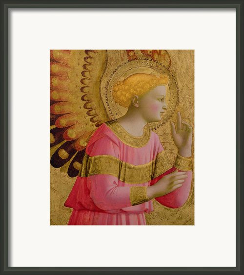 Annunciatory Angel Framed Print By Fra Angelico