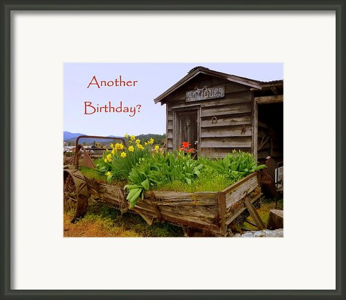 Another Birthday Antiques Framed Print By Cindy Wright