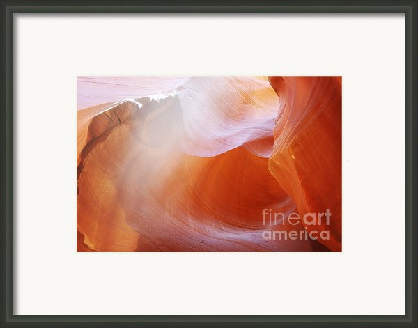 Antelope Canyon Light Beams - Unearthly Beauty Framed Print By Christine Till