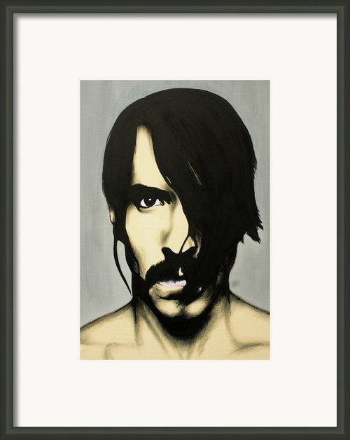 Anthony Kiedis Framed Print By Antony Bagley