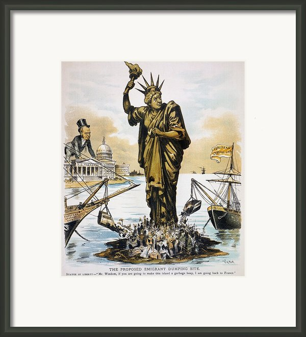 Anti-immigration Cartoon Framed Print By Granger