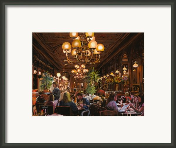 Antica Brasserie Framed Print By Guido Borelli