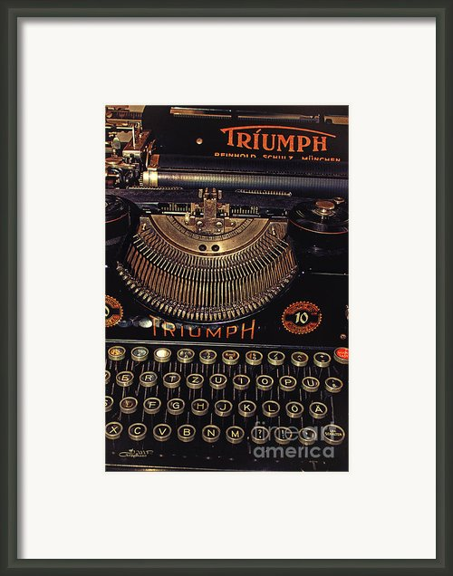 Antiquated Typewriter Framed Print By Jutta Maria Pusl