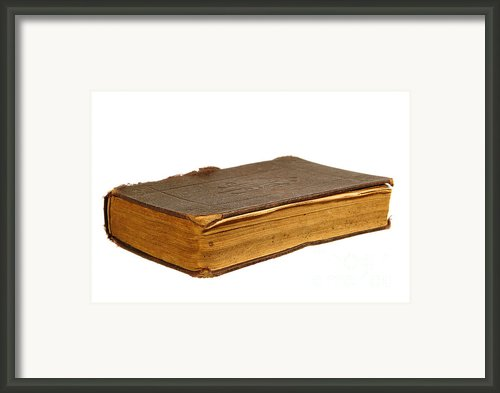 Antique Book Framed Print By Olivier Le Queinec