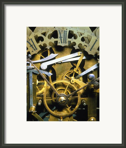 Antique Clock Framed Print By David Parker
