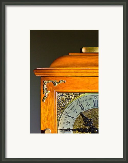 Antique Clock  Framed Print By Ken Hunter