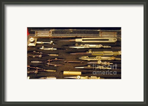 Antique Draftsman Set Framed Print By Yali Shi