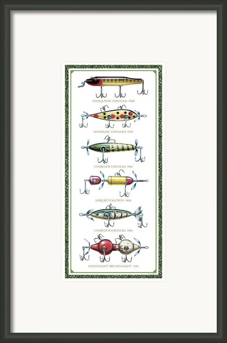 Antique Lure Panel Framed Print By Jq Licensing