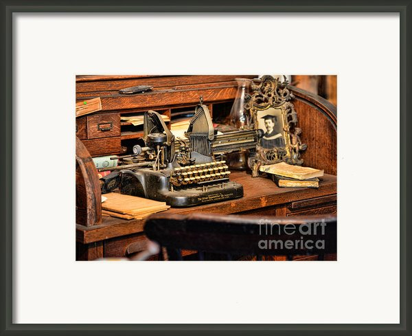 Antique Typewriter Framed Print By Paul Ward