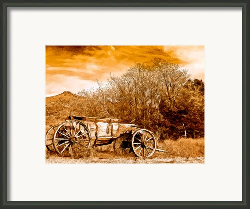 Antique Wagon Framed Print By Nadine And Bob Johnston