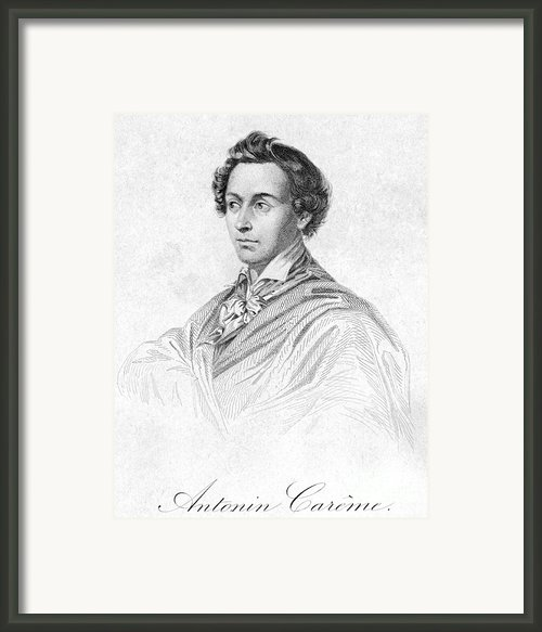 Antonin Car�me (1783-1833) Framed Print By Granger