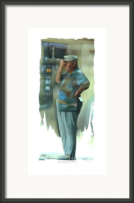 Any Good News Today . . . Framed Print By Bob Salo