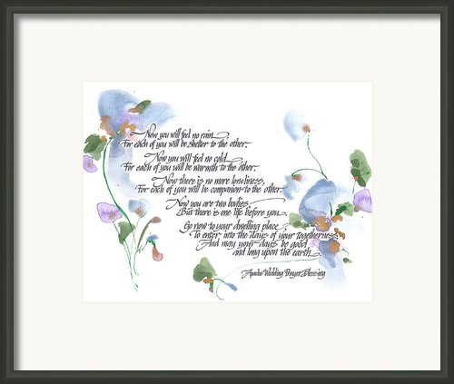 Apache Wedding Prayer Blessing Framed Print By Darlene Flood