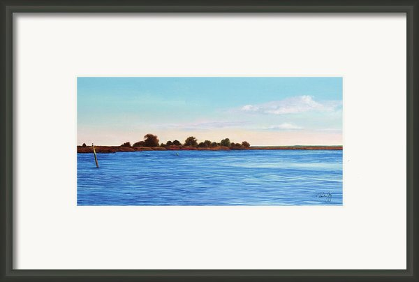 Apalachicola Bay Autumn Morning Framed Print By Paul Gaj