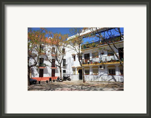 Apartment Houses In Marbella Framed Print By Artur Bogacki