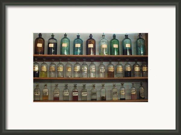 Apocethary Jars Framed Print By Anna Villarreal Garbis