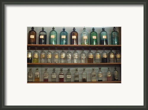 Apocethary Jars Framed Print By Anna Villarreal Garbis