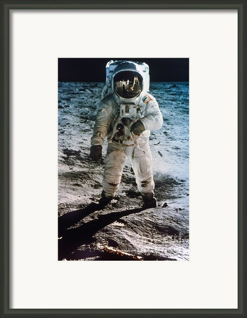 Apollo 11: Buzz Aldrin Framed Print By Granger