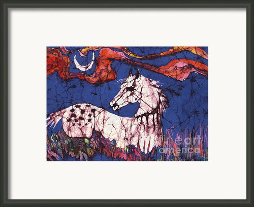 Appaloosa In Flower Field Framed Print By Carol Law Conklin