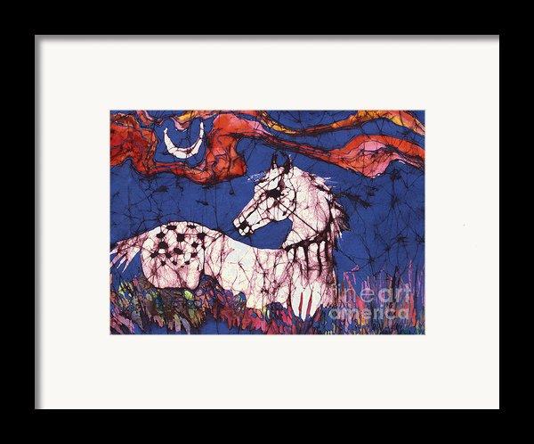 Appaloosa In Flower Field Framed Print By Carol Law Conklin