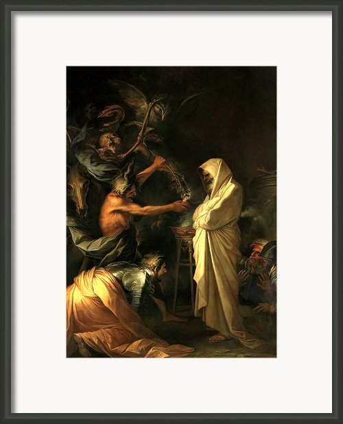 Apparition Of The Spirit Of Samuel To Saul Framed Print By Salvator Rosa