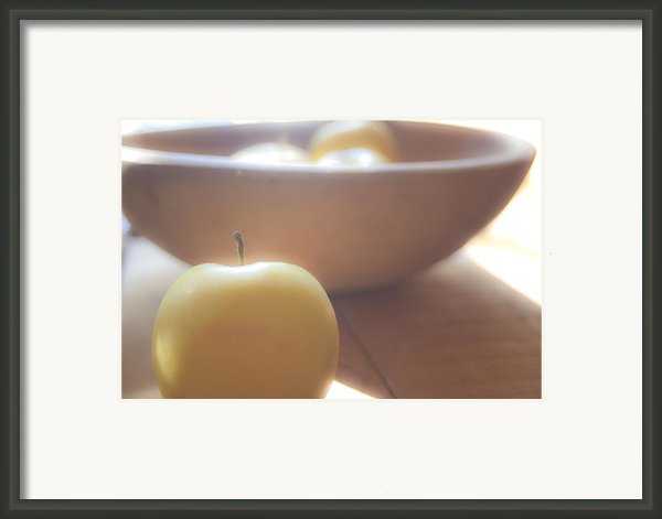 Apple In Waiting Framed Print By Toni Hopper