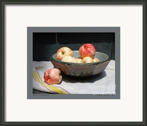Apples In An Aerni Bowl Framed Print By Patricia Overmoyer