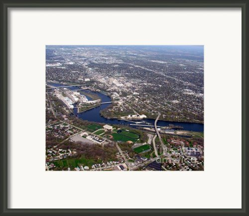 Appleton Downtown Framed Print By Bill Lang
