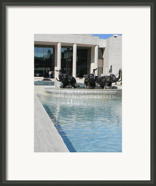 Appleton Reflection Pool Framed Print By Warren Thompson