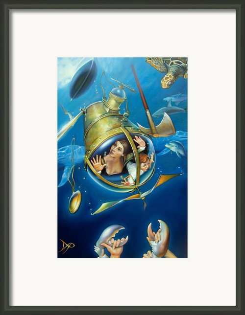 Aquaria Rising From Mask Of The Ancient Mariner Framed Print By Patrick Anthony Pierson