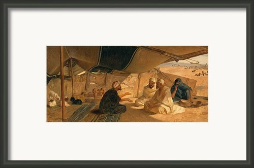 Arabs In The Desert Framed Print By Frederick Goodall