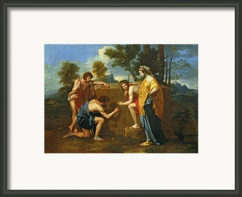Arcadian Shepherds Framed Print By Nicolas Poussin