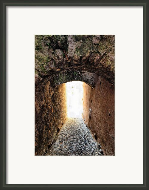 Arch In The Alley Framed Print By Ettore Zani