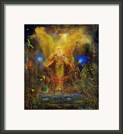 Archangel Michael   Angel Of Strength And Guidance Framed Print By Steve Roberts
