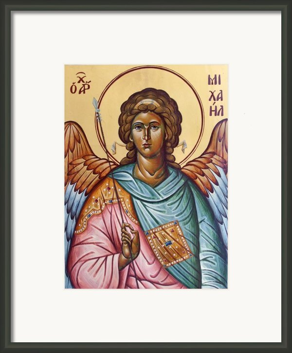 Archangel Michael Framed Print By Julia Bridget Hayes