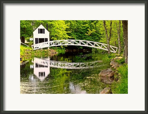 Arched Bridge-somesville Maine Framed Print By Thomas Schoeller