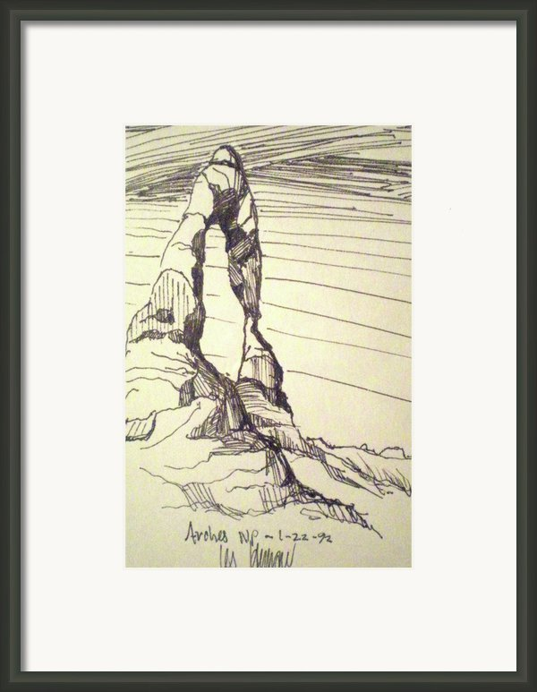 Arches Np Framed Print By Les Herman