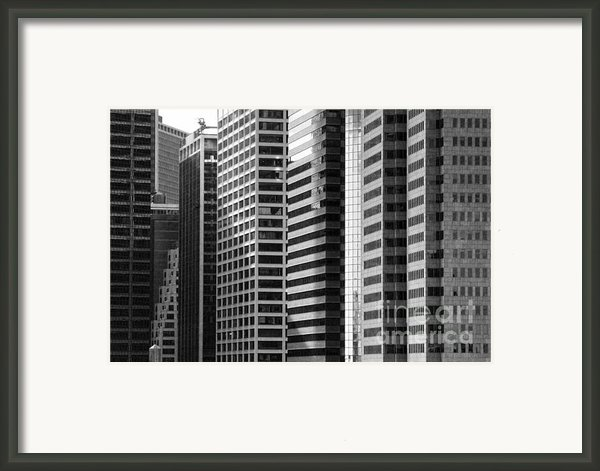 Architecture Nyc Bw Framed Print By Chuck Kuhn